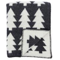 Pentik Metsa Black Wool Blanket
