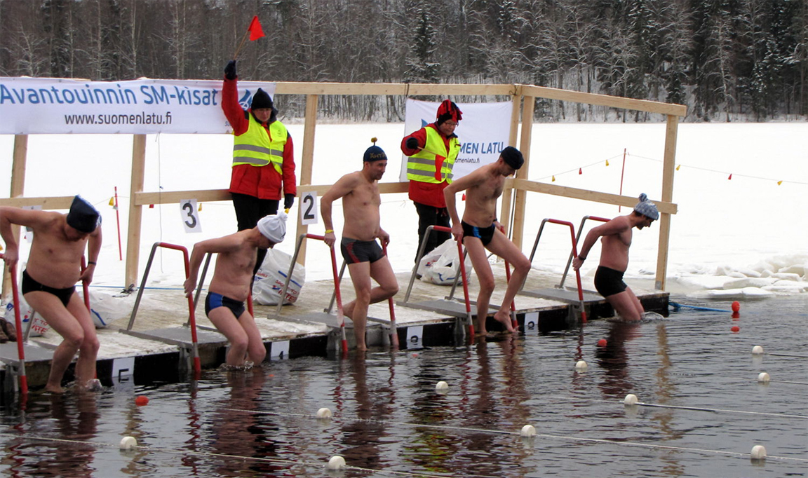 winter swimming image